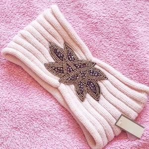 Embellished Knit Headwrap